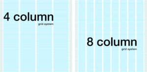 4 and 8 column grid system