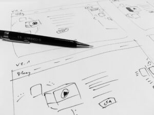 UX Design Process Sketch